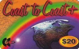 USA - Coast To Coast Prepaid Card $20, Used - Etats-Unis