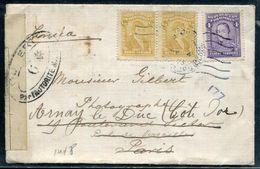 COLOMBIE - N° 200 (2) + 213 / LETTRE DE BOGOTA LE 4/7/1918 , POUR LA FRANCE AVEC CENSURE MILITAIRE - TB - Kolumbien