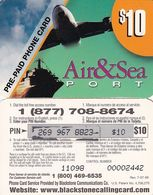 USA - Air & Sea Port, Blackstone Prepaid Card $10, Exp.date 07/07/99, Used - Etats-Unis