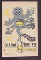 "Buvard ( 21 X 13.5 Cm ) "" "" L'alcool à Brûler "" - Produits Ménagers"