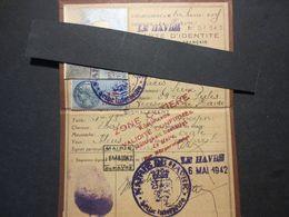 Le Havre - Carte D'identité - WW2 - Cachet Allemand - Validité Permanente Zone Côtière - 1942 - TBE - - Maps
