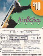 USA - Air & Sea Port, Blackstone Prepaid Card $10, Exp.date 10/02/00, Used - Etats-Unis