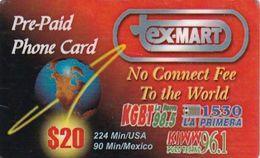 USA - Globe, Ex-Mart Prepaid Card $20, Used - Etats-Unis