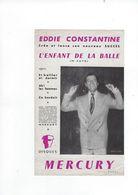 Document  Musique Eddie Constantine  L'enfant De La Balle  Disques Mercury - Musique & Instruments