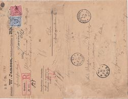DR Krone/Adler Div Retour RBf Rheinbach B Bonn N Köln 1891 - Storia Postale