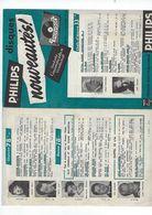 Document  Musique    Disques Philips   Nouveautes Janvier 1955 - Musique & Instruments