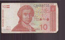 Croatie, Billet De 10 Dinara - Croatie