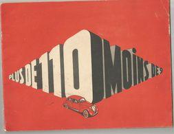 AUTOMOBILE : SIMCA 8 , SIMCAVITE , PLUS DE 110 MOINS DE 9 - Publicités
