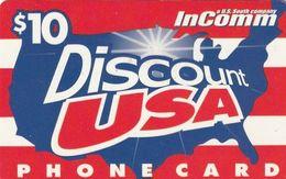 USA - InComm By US South Prepaid Card $10, Used - Etats-Unis