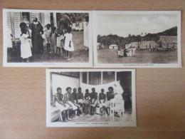Fidji / Fiji - 3 Cartes Postales Animées - Soeurs Missionnaires De Sainte-Foy-Les-Lyon - Makhogai, Prière, Etc... - Fiji