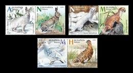 Belarus 2020 Mih. 1343/48 Fauna. Seasonal Variations. Hare. Weasel. Partridge MNH ** - Belarus