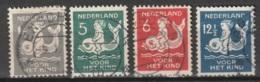 1929 Kind NVPH 225-228   Cancelled/gestempeld - Usados