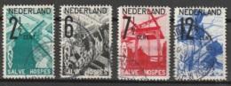 1932 ANVV - Windmolen NVPH 244-247  Cancelled/gestempeld - Windmill - Oblitérés