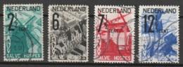 1932 ANVV - Windmolen NVPH 244-247  Cancelled/gestempeld - Windmill - Usados