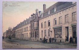 MENEN Menin 1924 PLACE DE LA GARE BEVRIJDINGSPLEIN Winkel Epicerie Franco Belge Anime Attelage Span - Menen