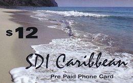 USA - Beach, SDI Caribbean Prepaid Card $12, Used - Etats-Unis