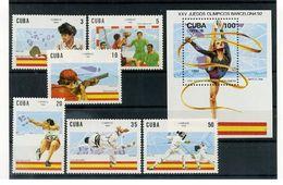Olympische Spelen  1992 , Cuba - Blok + Zegels Postfris - Summer 1992: Barcelona