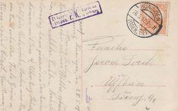 France Alsace Carte Censurée Hüningen 1917 - Marcofilia (sobres)