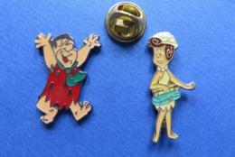 2 Pin's,LES PIERREAFEU,THE FLINTSTONES,FRED Et VILMA - BD