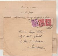 Affranchissement Composé Pétain Mercure  Lettre Pamiers Ariège Pour Toulouse - Marcophilie (Lettres)