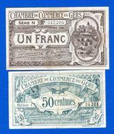 Gers  2  Billets - Chambre De Commerce