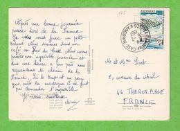 ANDORRE N° 175 SUR CARTE POSTALE PAS DE LA CASE  OBLITERATION PAS DE LA CASE - Andorre Français