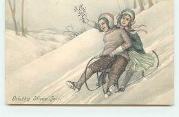 VK Vienne - Gelukkig Nieuw Jaar - Couple Sur Une Luge - Neujahr