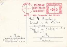 ITALIE 1969 - OBLITERATION MECANIQUE STAZIONE ZOOLOGICA AQUARIUM - NAPOLI - Machine Stamps (ATM)