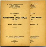 Catalogues Des Papiers Monnaies 1914-1923  Fascicule 1 De A à C, Fascicule 2 De D à K, 1952-53 - Livres & Logiciels