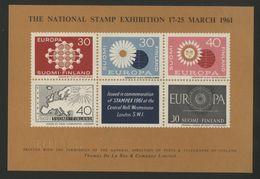 FINLANDE BLOC FEUILLET EUROPA Semi-officiel émis Durant L'Exposition Stampex De 1961 à Londres. Neuf ** (MNH). TB - Blokken & Velletjes