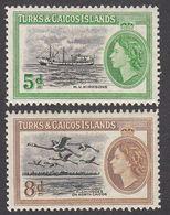Turks & Caicos 1955  Set Of 2  SG235 , SG236     MNH - Turks And Caicos