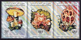 Comores  3 Timbres ** TTB  Champignon  Mushroom Cogumelo Setas - Hongos
