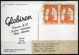 """Vatican  Carte Postale """"médicale""""  Publicitaire Globiron  1958 - Vatican"""