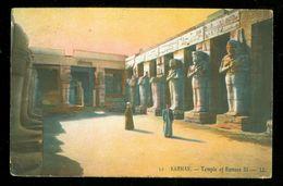 EGYPT * CPA * POSTCARD *  KARNAK RAMSES III * CIRCULATED IN 1911 TO BERLIN (16) - Egypt