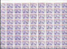 2 Blocs 100 + 99 Vignettes Violettes  LIGUE DES SOCIETES DE LA CROIX ROUGE - 0,05  Gomme Brillante Présente   (G51 - Commemorative Labels