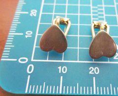 ORECCHINI COPPIA DI CUORI COLORE ORO METAL VINTAGE BIGIOTTERIA - Earrings