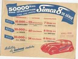 AUTOMOBILE : SIMCA 8 , SIMCAVITE - Publicités