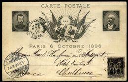 France Carte Postale  1896  émise à L'occasion De La Venue Du Tsar Nicolas II, Paris 12 + Section Levée - Autres