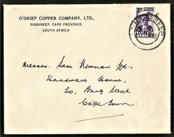 South Africa 1946 NABABEEP. O'OKIEP COPPER COMPANY. Namaqualand. SG 100. - Storia Postale