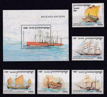 Cambodia 1996, Ships, Complete Set + S/s MNH. Cv 14,50 Euro - Cambodia