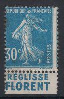 TIMBRE SEMEUSE N° 192 OBLITÉRÉ Avec BANDE PUBLICITAIRE PUB REGLISSE FLORENT (TIMBRE DE CARNET) - Publicités