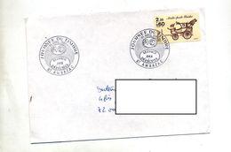 Lettre Cachet Ambazac Journée Du Timbre 1986 - Postmark Collection (Covers)