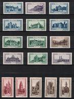 """LOT De 17 VIGNETTES """" LA BELLE FRANCE """" Avec DIFFÉRENTES VILLES Et COULEURS (POMPADOUR BEYNAC DOMME CAHORS ETC.) - Commemorative Labels"""