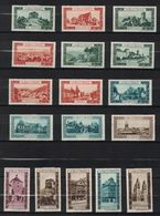 """LOT De 17 VIGNETTES """" LA BELLE FRANCE """" Avec DIFFÉRENTES VILLES Et COULEURS (MUNSTER THANN STRASBOURG RENNES KERJEAN ETC - Commemorative Labels"""