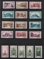 """LOT De 17 VIGNETTES """" LA BELLE FRANCE """" Avec DIFFÉRENTES VILLES Et COULEURS (REMIREMONT DOMREMY DABO METZ TOUL ETC.) - Commemorative Labels"""