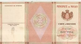 PRINCIPAUTE DE MONACO . CARTE IDENTITE RESIDENT ITALIEN . 1949 + TIMBRE FISCAL - Alte Papiere