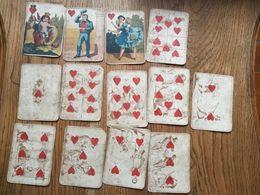 Etrange Jeu De Cartes  Ancien: Complet De Ses 4 X 13 Cartes.  Voir Scans.  Port Rec France Gratuit - Jugetes Antiguos