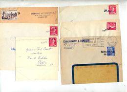 Lot 6 Devant De Lettres Cachet Annulation Paris - Marcophilie (Lettres)