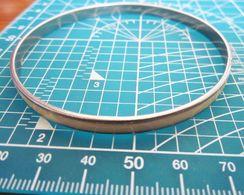 BRACCIALE ACCIAIO METAL SMALTATO BIANCO VINTAGE BIGIOTTERIA - Bracelets