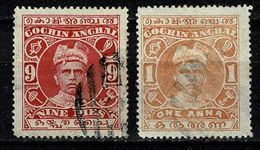 India - Cochin Anchal 1911 Yv. 13, 14 (2 Scans) - Cochin